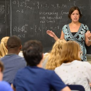 Archive Photo: Ayla Gafni, UM assistant professor of mathematics, has earned a prestigious Ralph E. Powe Junior Faculty Enhancement Award to further her mathematics research and classroom instruction. Photo by Robert Jordan/Ole Miss Digital Imaging Services
