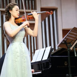 Chengyu Ren, a master's student from Yantai, China, says the variety of performance opportunities in the UM Department of Music has helped her grow as a musician. Submitted photo
