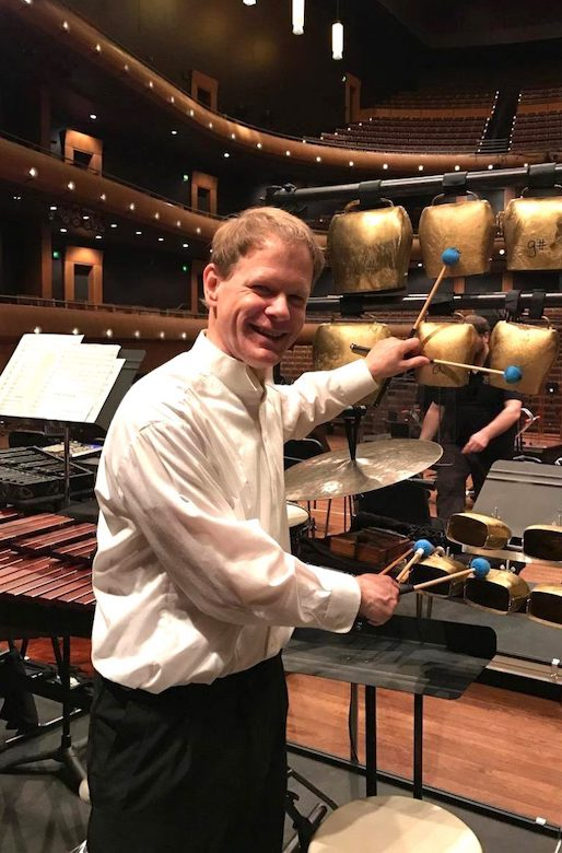 David Carlisle, an adjunct instructor in the UM Department of Music, is principal percussionist for the Memphis Symphony Orchestra. The musician and educator also recently completed his Doctor of Musical Arts at the University of Cincinnati's College-Conservatory of Music and says that insights he gained while working on that degree will yield benefits for his Ole Miss music students. Submitted photo