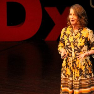 Carolyn Friewald, UM associate professor of anthropology, discusses how a tooth can reveal to scientists information about humans from thousands of years ago during the university's TEDxUniversityofMississippi 2020 event. The presentation will be broadcast online at 9 a.m. Thursday (Jan. 14) by the TED organization. Photo courtesy Kate Hooper