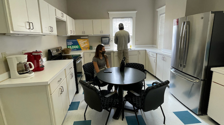 The kitchen at the George Street House, the new home for UM's Office of Veteran and Military Services, has become a satellite location for Grove Grocery, where Ole Miss students and employees can pick up groceries or prepare a ready-made freezer meal. Submitted photo