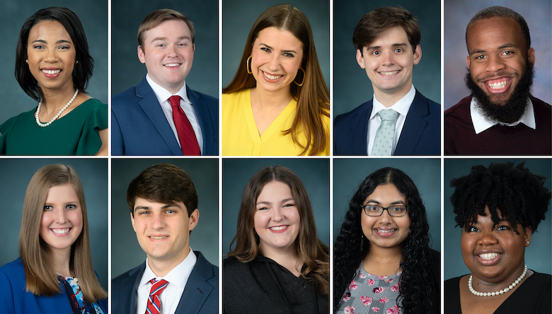 """This year's Hall of Fame members are Shelby D'Amico, Harrison McKinnis and Robert Wasson, all of Madison; Victoria Green, of Canton; Asia Harden, of Greenville; Swetha Manivannan, of Collierville, Tennessee; Joshua Mannery, of Jackson; Gianna Schuetz, of Huntsville, Alabama; and Robert """"Cade"""" Slaughter and Madison Thornton, both of Hattiesburg."""