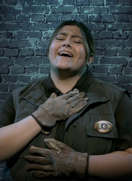UM senior Gabriela Nieto-Hale portrays Penelope Pennywise, the warden of Public Amenity #9, in 'Urinetown,' the final production of the spring from the Department of Theatre and Film. Submitted photo