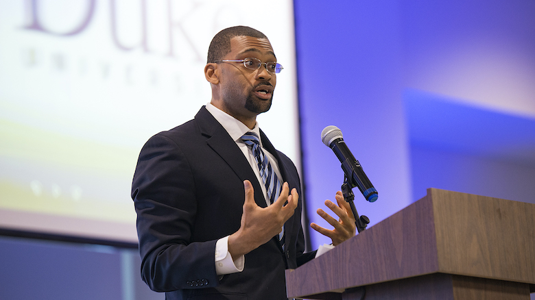 Patrick Alexander, associate professor of English and African American studies, has been named recipient of the 2021 Elsie M. Hood Outstanding Teacher Award. Photo by Christian Johnson/Ole Miss Digital Imaging Services