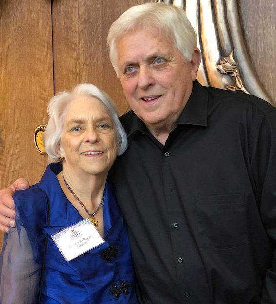 Gloria Kellum, vice chancellor emerita for UM University Relations, and Robert Khayat, UM chancellor emeritus, worked closely together in launching the Ole Miss First Scholarship program.