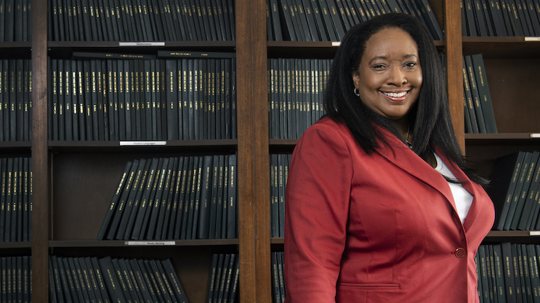 Ethel Scurlock is taking over as interim dean of the Sally McDonnell Barksdale Honors College at UM, where she also is director of African American studies and an associate professor of English. Photo by Logan Kirkland/Ole Miss Digital Imaging Services