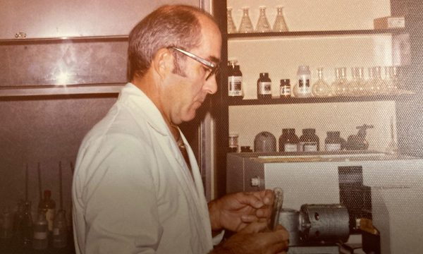 Luther Knight works in his lab at the Department of Biology. Submitted photo