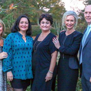The Triplett siblings, from left, are Lou Ann Woidtke, Liz Walker, Suzy Fuller, Diane Holloway and Chip Triplett.