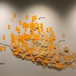 Toe Tag Wall Prototype. Photo by Phillips Museum of Art, Franklin & Marshall College via Undocumented Migration Project