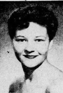 Betty Overstreet Gresham in 1954