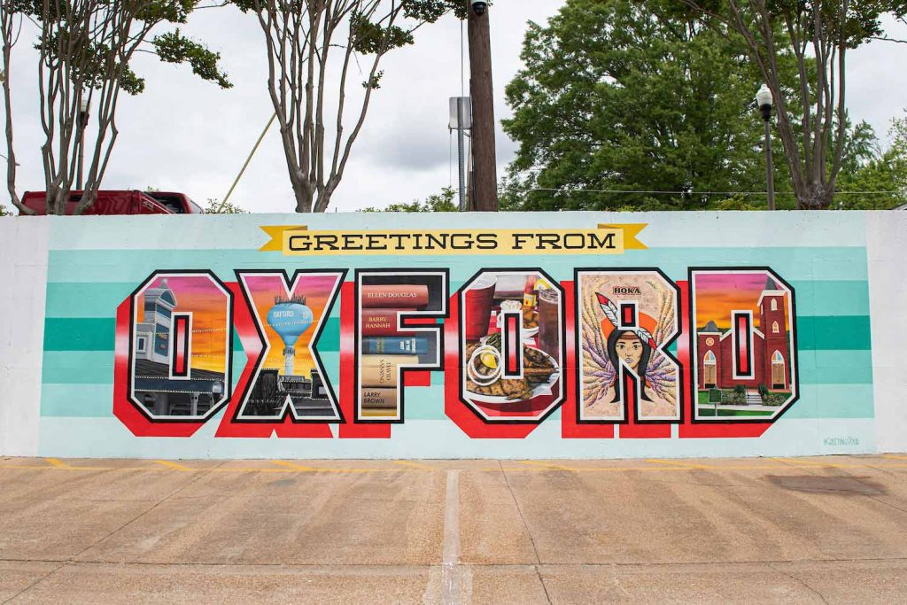 Oxford Mural on The Square. Photo by Logan Kirkland/ Ole Miss Digital Imaging Services