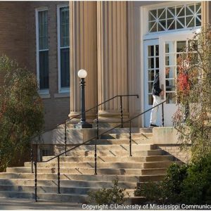 The entrance to Peabody Hall. Kevin Bain/University Communications